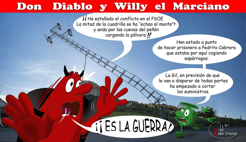 Don Diablo Rojo y Willy el Marciano, Abril 2015